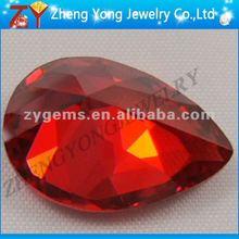 fashion orange pear loose gemstone zircon rough