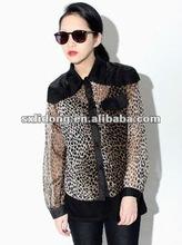cool girl leopard revealing blouses