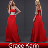 Grace Karin Strapless Long Evening Dress 2014 Sweetheart Red Evening dresses CL3421