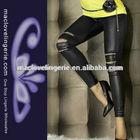 ML7571 Western Street Style High Waist Ladies Tight Sexy Stretch Leather Leggings