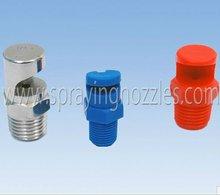Deflection flat fan sprayer nozzle