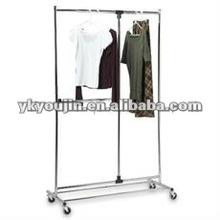 Single rail adjustable antique cloth rack 2004