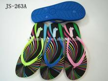 2014 beach printed eva slipper ladies footwear brands in india
