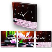 312 24h SALE Modern design buddha black stones frame clock, clock wall, elegant clock