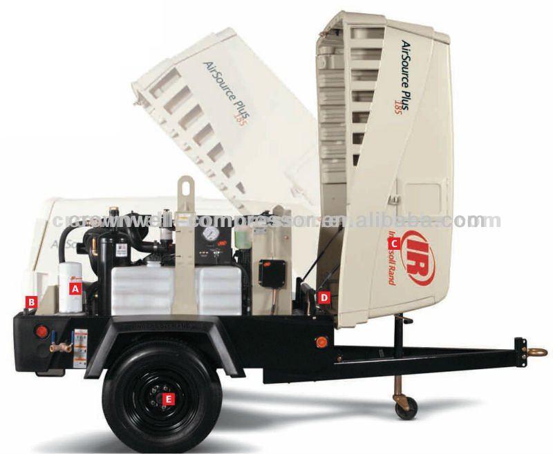 Ingersoll Rand ( Doosan ) Compressor de ar portátil IR Diesel portátil Compressor de ar ( hp375wir, Hp750wcu, Hp915wcu, Hp1600wcu )
