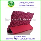 Top quality Leopard book leather case for ipad mini