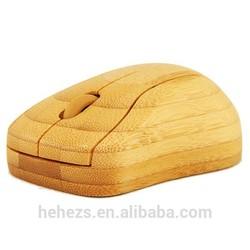 Promotional ergonomic design bamboo Optical Mouse Wireless Mouse