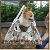 White Capoter- python Pattern Snake Leather Dog Carrier BA7067