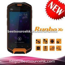 Manufactrue Runbo X5 IP67 GPS/3G/Walkie-Talky waterproof mobile phone
