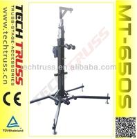 Heavy duty stand for spearker trussing speaker tower lift