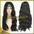 Hot!!! 2014 5a 100% grau virgem onda do corpo brasileiro cabelo peruca cheia do laço