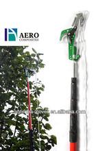 Telescoping long handle tree pruning saw