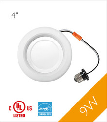 "UL/cUL,Energy Star, LM79 approved, 9W, Dimmable, 4"" Recessed DownLight"