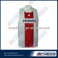 la sublimación de manga de la tapa de voleibol uniforme de diseños de camiseta