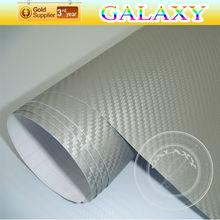 Great promotion during christmas heat resistant 3d carbon fiber car wrap vinyl film with air drain adhesive film carbon pink