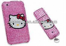 usb flash drive bullet 2GB,4GB,8GB,16GB,32GB,64GB lovely crystal hello kitty usb flash drive