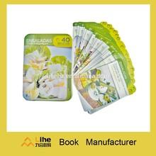 Top quality tin box recipe cards printing