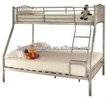 SLIVER METAL TWIN-FULL YOUTH TRIPLE THREE SLEEPER BUNK BED