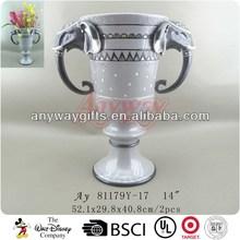 Polyresin elephant vases