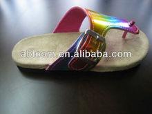 Kids Cheap Rainbow Flip Flop Slipper