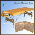 Luxo portátil mesa de massagem de madeira, 2014 novo design camas de massagem