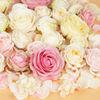 colorful mixed ranunculus rose silk flower head