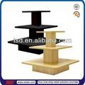 China tsd-w379 fábrica personalizada plaza tienda 3 mdf mesa de exhibición niveles/madera mesa de exhibición/al por menor de ropa de mesa de exhibición