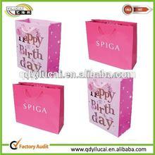 Red Gingham Paper Bag Shopping Shopper