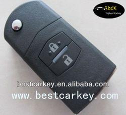 High quality 2 buttons key case for original mazda 2-button remote key 433 Mhz,4D63 chip, Maz24Rblade
