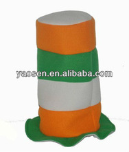 orange and green and white stitching stovepipe ireland hat for St Patrick Day party