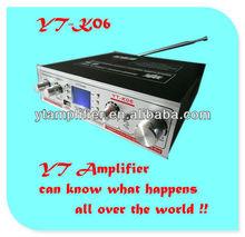 4 digit LCD voltage display/USB/TF card car audio power amplifier YT-K06