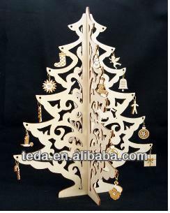 wooden christmas tree decorative tree