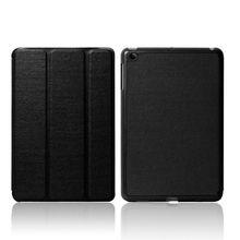 Three folded smart cover for ipad mini leather case