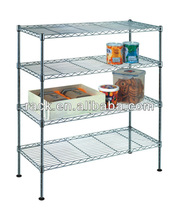 NSF Chrome 4 Tier DIY Metal Vegetable Rack For Kitchen Use,Easy Assemble