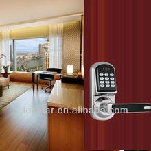 card sensor keypad hidden cylinder handle door lock
