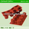 8 pcs/conjunto flor forma de bolo de silicone molde/moldes de silicone