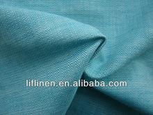 linen cotton yarn dyed herringbone twill fabrics