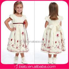 Charming Cap Sleeve With Bow Waist Lovely Long Flower Girl Dresses