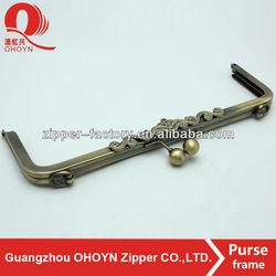 No.9162 Nice Lead-free anti brass metal frame clasp hardware