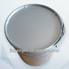 weißblech runde eimer mit deckel und verriegelt ring und eine malerei außerhalb