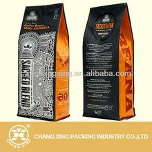 2013 top seal aluminum foil cauum sealed coffee bag with vent valve