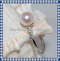 8mm aaaround parfait blanc perle bijoux bague en diamant 2015