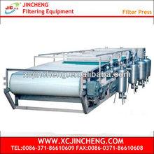 Water treatment plant vacuum belt filter