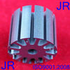 AC electric motor stator and rotor