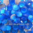 10mm FL Sapphire neon stone rhinestone, transparent stone transfer, shiny stone, stone fixing