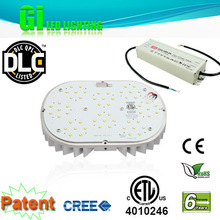 DLC ETL CE RoHS LED retrofit kits to replace black cover LED flood light 80w