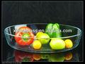 Pyrex 56oz resistente al calor borosil oval/claro utensilios para hornear de vidrio/plato para hornear