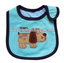 fashion embroidered cartoon animal cotton braids trim bluebibs funny puppy