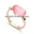 96524Pink Opal Heart Shaped gemstone Rings vners retail