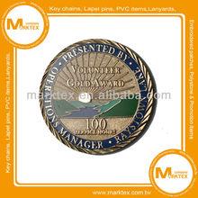 Copper stamped imitation hard enamel souvenir coin supplier